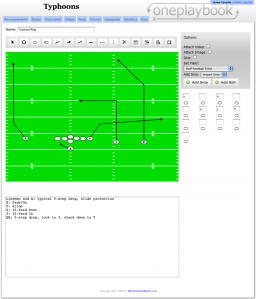 We can add text to our football play, likes rules or scouting information.
