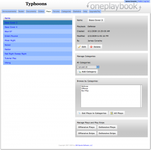 """Our Cover 3 play has not been categorized: notice how there is no """"Delete Category"""" button."""
